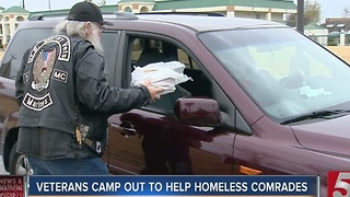 Group Camps Out, Seeks Donations For Homeless Vets - Video