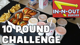 In-N-Out 10 lb Food Challenge (Solo) *7500 Calories* | FreakEating vs The World - Video