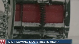 Did plowing streets help? - Video