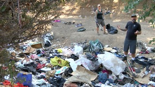 City Heights residents plea for help to clean homeless encampments - Video