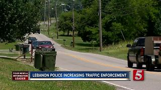 Lebanon Police Increasing Traffic Patrols - Video