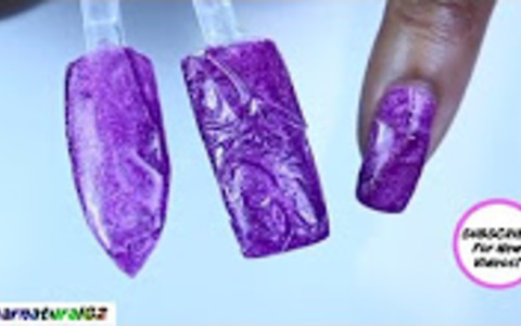How to 3D textured gel nail art hack | Dearnatural62