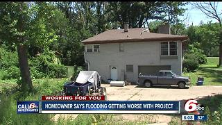 Homeowner says flooding getting worse with project - Video