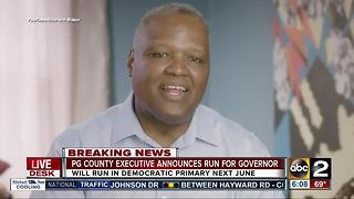 PG County Executive Rushern Baker announces run for governor - Video