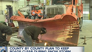 Counties get ready for snow storm - Video