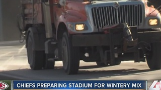 KC preparing for ice storm ahead of Chiefs game - Video