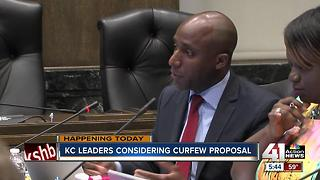 KC leaders consider curfew proposal - Video