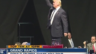 Donald Trump visits Grand Rapids - Video