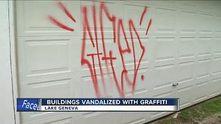 Lake Geneva police investigating graffiti found on several buildings - Video
