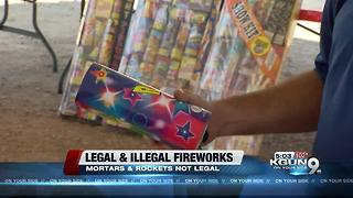 Firework safety, what's legal and what's not