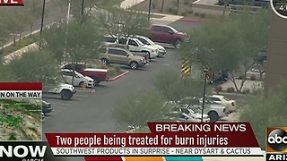 Two people treated for burn injuries - Video