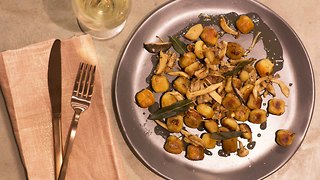 John Whaite's 5-ingredient mushroom and sage gnocchi - Video