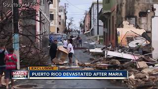 Action News anchor travels to Puerto Rico with US Coast Guard, describes damage left by Maria - Video