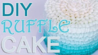 How-To Buttercream Ombre Ruffle CAKE - Video