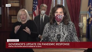 Gov. Whitmer: 'I am discouraging people from gathering for Christmas'