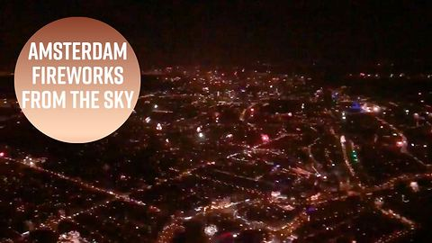 Helicopter view: Amsterdam's New Year's Eve was wild