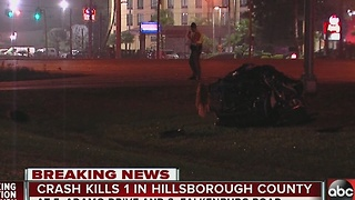 Crash kills 1 in Hillsborough County