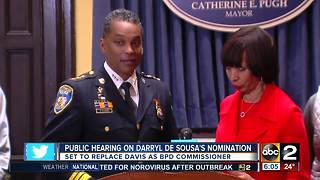 City Council holding televised confirmation hearing for Police Commissioner De Sousa - Video