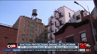 Eviction protections ending in California
