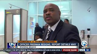 Riviera Beach police officer resigns under pressure after helping mayoral candidate - Video