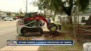 Storm debris cleanup priorities in Tampa - Video