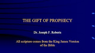 Spiritual Gifts 4 - Prophecy