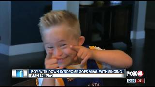 Viral video of boy with Down Syndrome singing Whitney Houston - Video