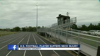 Local high school football player airlifted to hospital with neck injury - Video