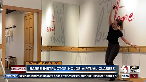 We're Open: Barre instructor holds virtual classes