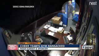 Burglars strike Las Vegas cheer leading gym during competition - Video