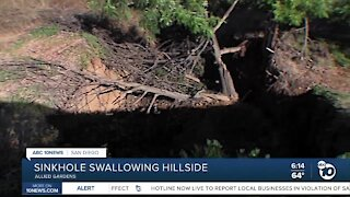 Homeowners worried about massive sinkhole in Allied Gardens