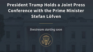 Trump Press Conference Swedish PM - Video