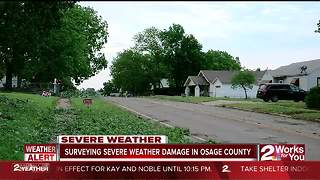 Storm damage in Osage County - Video