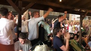 Londoners react as Harry Kane puts England up 1-0 against Colombia