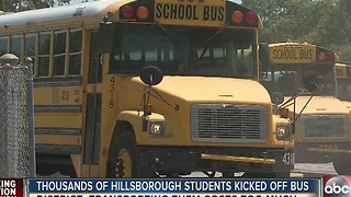 Thousands of Hillsborough students kicked off bus - Video