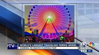 Largest traveling Ferris wheel coming to South Florida Fair - Video