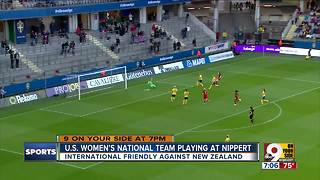 U.S. Women's National Team playing at Nippert