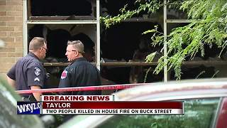 Two people dead in Taylor house fire - Video