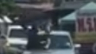 Driver Hits Thai Man With Car, Gets Punched in Front of Police - Video