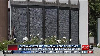 Vietnam Veterans Memorial Adds First Female Vet