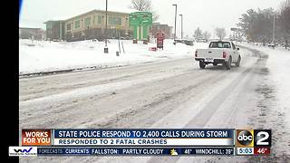 State police respond to 2,400 calls during snow storm, recovery - Video