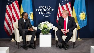 Trump Meets With Rwandan President After Alleged 'Shithole' Comment - Video