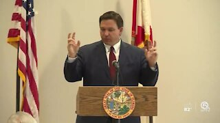 Palm Beach County investigating after Gov. Ron DeSantis speaks to mostly maskless crowd in West Palm Beach