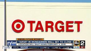 Mondawmin Mall Target closes it doors in February - Video