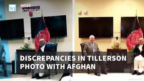 Discrepancies in Tillerson Photo with Afghan President Suggest Possible Photo Manipulation