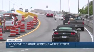 Roosevelt bridge reopens after the storm