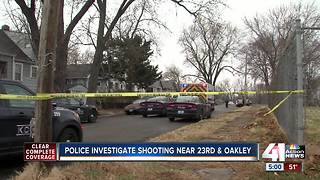 KC police investigate shooting near 23rd and Oakley - Video