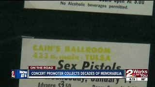 Concert promoter collects decades of memorabilia - Video