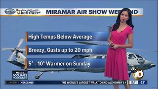 10News Pinpoint Weather for Saturday Sept. 23 - Video