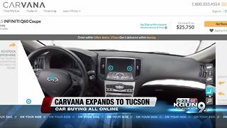 Carvana announces expansion into Tucson - Video